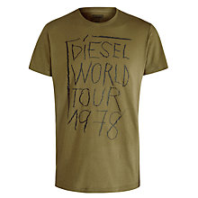 Buy Diesel Barn World Tour Print Cotton T-Shirt Online at johnlewis.com