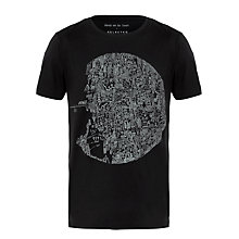 Buy Selected Homme Balandila T-Shirt, Black Online at johnlewis.com