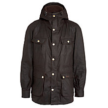Buy Barbour Northolt Hooded Parka Jacket, Rustic Online at johnlewis.com