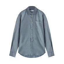 Buy Jigsaw Oxford Round Collar Shirt, Indigo Online at johnlewis.com