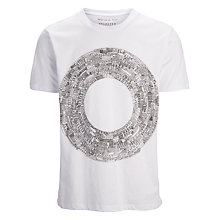 Buy Selected Homme Metropolis Circle Crew Neck T-Shirt, White Online at johnlewis.com