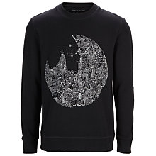 Buy Selected Homme Shoralialaia Daniel Van Der Noon Print Sweatshirt, Black Online at johnlewis.com