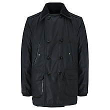 Buy Barbour Holton Double Breasted Military Reefer Jacket, Navy Online at johnlewis.com