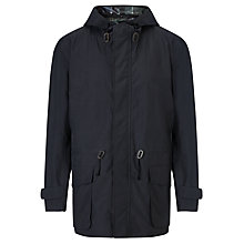Buy Barbour Indy Three Layer Hooded Parka Jacket, Navy Online at johnlewis.com