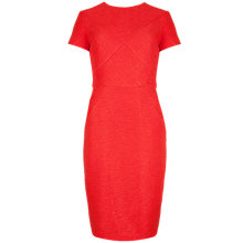 Buy Ted Baker Shortsleeved Textured Bodycon Dress, Dark Orange Online at johnlewis.com