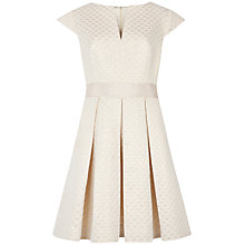 Buy Ted Baker Metallic Jacquard Dress, Cream Online at johnlewis.com