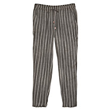Buy Mango Striped Jacquard Cotton Trousers, Dark Grey Online at johnlewis.com