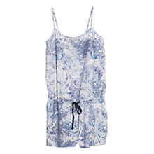 Buy Mango Faded Print Jumpsuit, Dark Blue Online at johnlewis.com