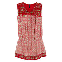 Buy Mango Mosaic Print Dress, Medium Pink Online at johnlewis.com