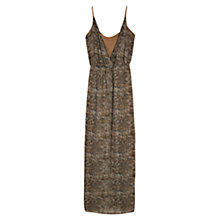 Buy Mango Wrap Long Dress, New Stone Online at johnlewis.com