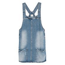 Buy Mango Denim Pinafore Dress, Medium Blue Online at johnlewis.com