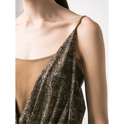 Buy Mango Snake Print Dress, Dark Brown Online at johnlewis.com