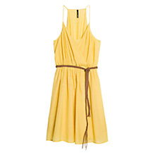 Buy Mango Belted Wrap Dress, Bright Yellow Online at johnlewis.com