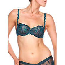 Buy Chantelle Vendome Balcony Bra, Peacock Online at johnlewis.com
