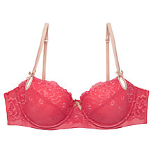 Buy Elle Macpherson Intimates Exotic Plume Contour Bra, Sugar Coral / Apple Blossom Online at johnlewis.com