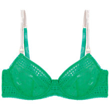 Buy Stella McCartney Magnolia Shrugging Balcony Bra, Spearmint Online at johnlewis.com