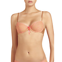 Buy Elle Macpherson Intimates Fluro Summer Balcony Bra, Fluo Pink / Toast Online at johnlewis.com