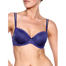 Buy Chantelle Merci Memory Foam T-Shirt Bra, Royal Blue Online at johnlewis.com