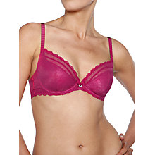 Buy Chantelle C Chic Sexy Underwired Plunge Bra, Cranberry Online at johnlewis.com