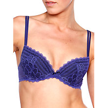Buy Chantelle Merci Push-up Bra, Royal Blue Online at johnlewis.com