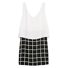 Buy Mango Contrast Bodice Dress, Black/White Online at johnlewis.com