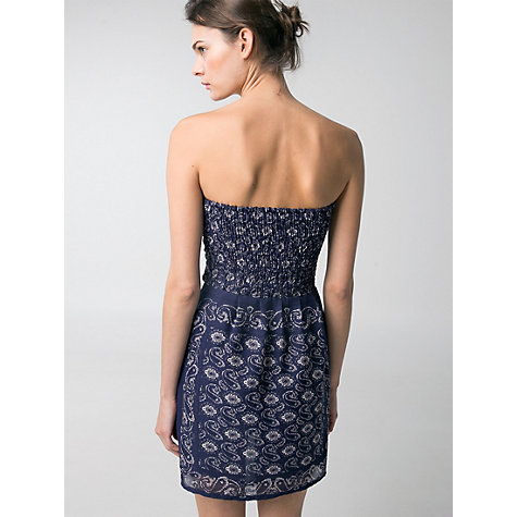 Buy Mango Strapless Dress, Medium Blue Online at johnlewis.com