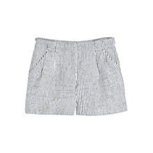 Buy Mango Striped Linen Shorts, Navy Online at johnlewis.com