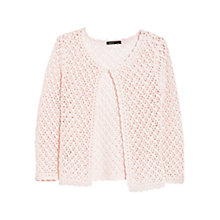 Buy Mango Open Knit Cardigan, Pastel Pink Online at johnlewis.com