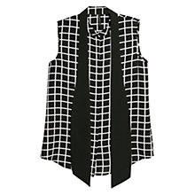 Buy Mango Bow Check Shirt, Black/White Online at johnlewis.com