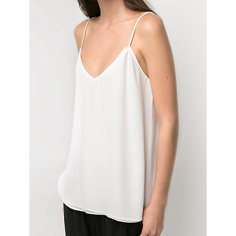 Buy Mango Flowy Strap Top, White Online at johnlewis.com