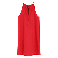 Buy Mango Cord Halter Dress, Medium Pink Online at johnlewis.com