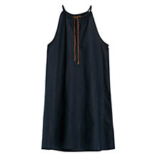 Buy Mango Braided Cord Halter Neck Dress, Navy Online at johnlewis.com