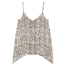 Buy Mango Snake Print Top, Dark Brown Online at johnlewis.com
