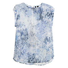 Buy Mango Faded Chiffon Blouse, Medium Blue Online at johnlewis.com