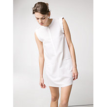 Buy Mango Mao Collar Dress, Natural White Online at johnlewis.com