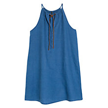 Buy Mango Linen Chambray Dress, Medium Blue Online at johnlewis.com