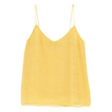 Buy Mango Snake Finish Top, Bright Yellow Online at johnlewis.com