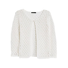 Buy Mango Open Knit Cardigan, Natural White Online at johnlewis.com