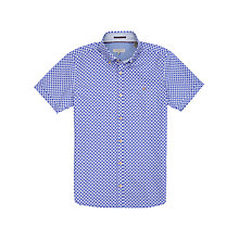 Buy Ted Baker Monkey Print Short Sleeve Shirt, Blue Online at johnlewis.com