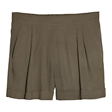Buy Mango Lightweight Shorts, Khaki Online at johnlewis.com