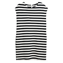 Buy Mango Striped Ponte Dress, Navy Online at johnlewis.com