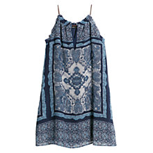 Buy Mango Paisley Print Halter Neck Dress, Medium Blue Online at johnlewis.com