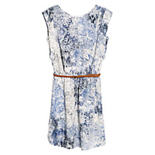 Buy Mango V-Back Dress, Medium Blue Online at johnlewis.com