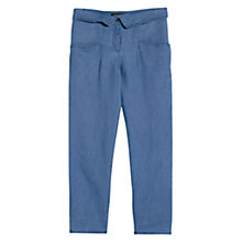 Buy Mango Folded Waist Trousers, Medium Blue Online at johnlewis.com