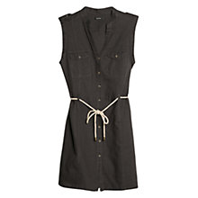 Buy Mango Drawstring Waist Shirt Dress Online at johnlewis.com