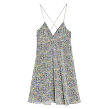 Buy Mango Floral Print Summer Dress, Dark Blue Online at johnlewis.com