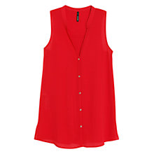 Buy Mango Buttoned Textured Blouse Online at johnlewis.com