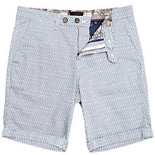 Buy Ted Baker Oakshor Micro Print Shorts, Blue/White Online at johnlewis.com
