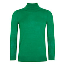 Buy Farhi by Nicole Farhi Cashmere Rollneck Knit, Green Online at johnlewis.com