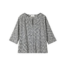 Buy Toast Demi Top, Dark grey/Antique White Online at johnlewis.com